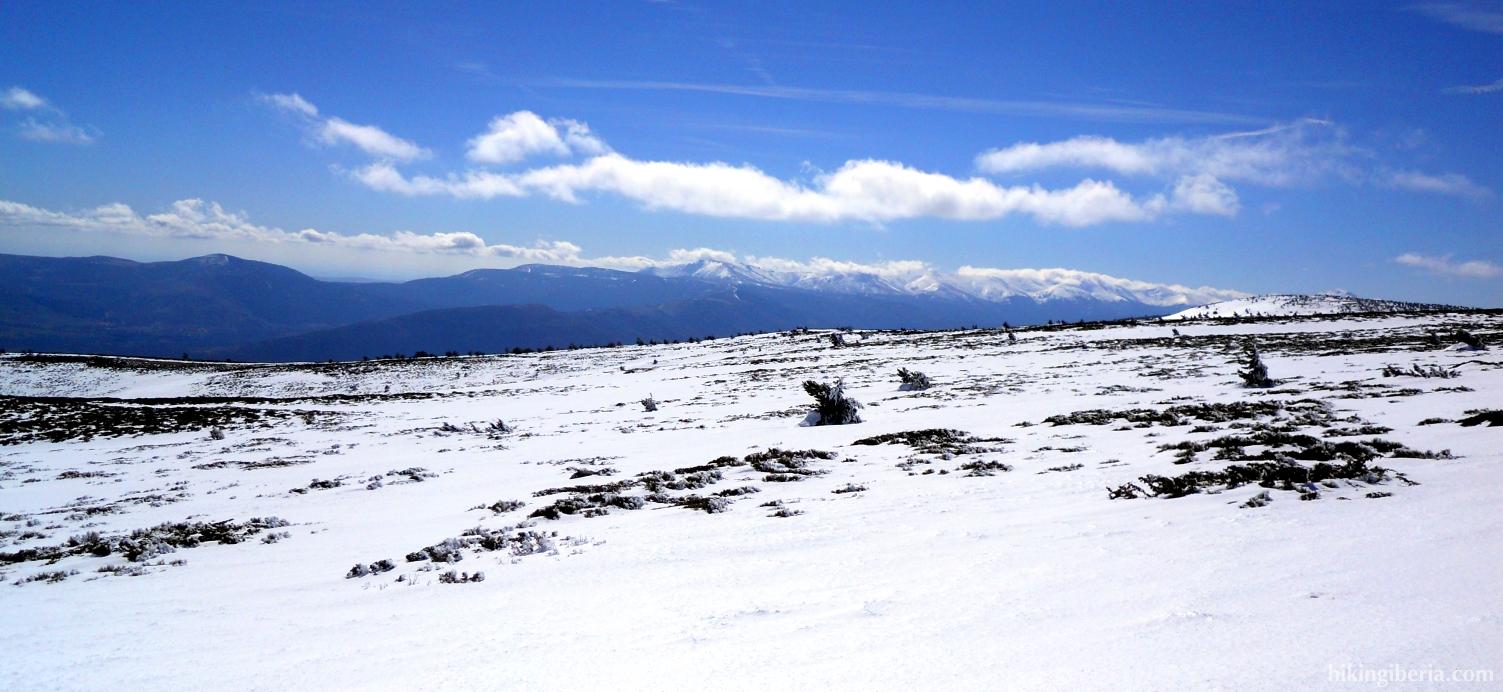 Winterliche Landschaft in der Nähe der Reajos