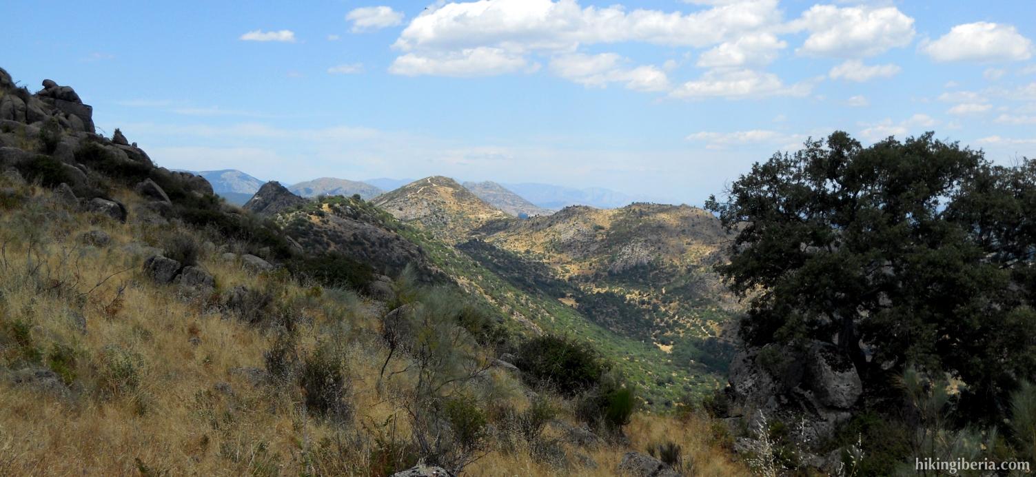 Views during the climb