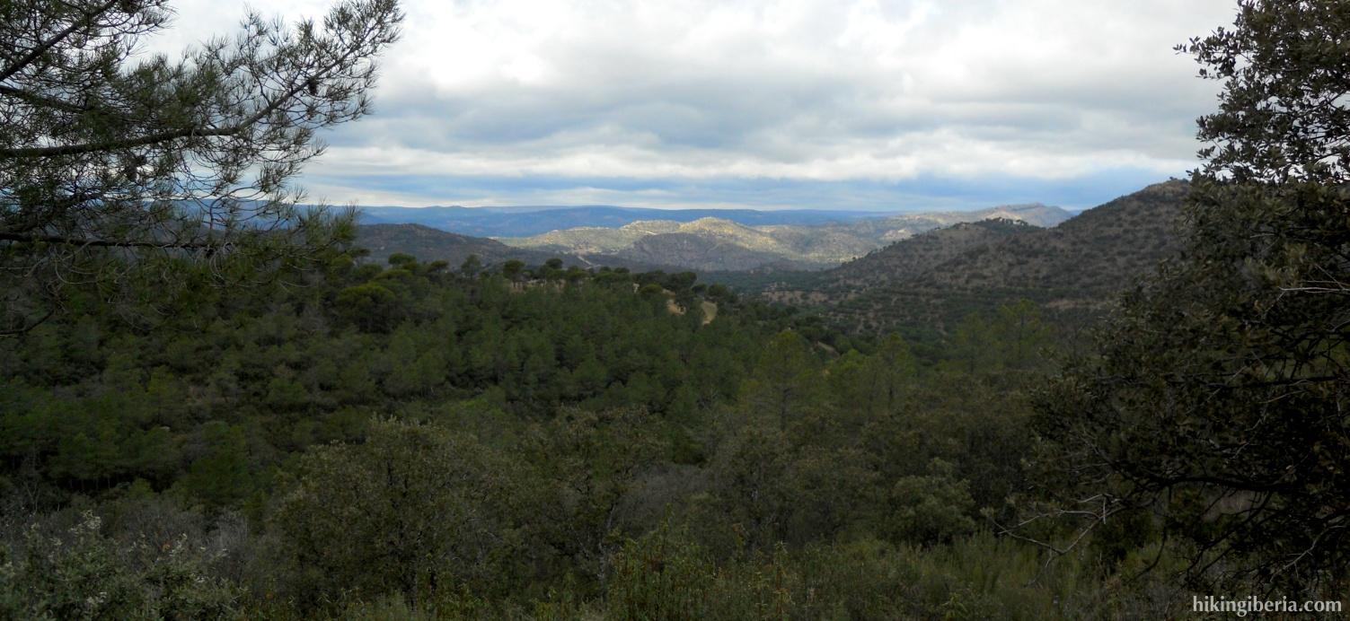 Uitzicht van de Cerro de las Cañadas del Rejón