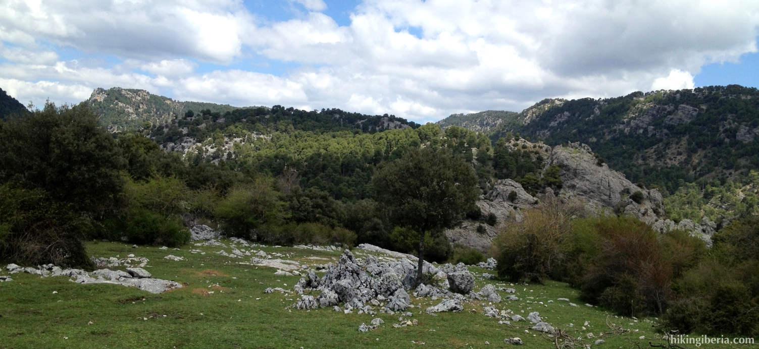 Uitzicht vanaf de Camino de las Navas