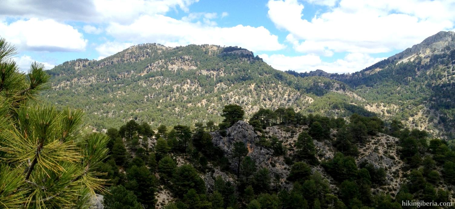 Aussicht auf die Poyos de la Carilarga
