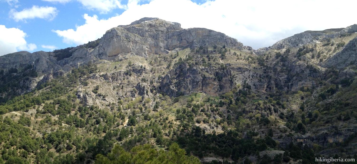 View on the Poyos de la Carilarga