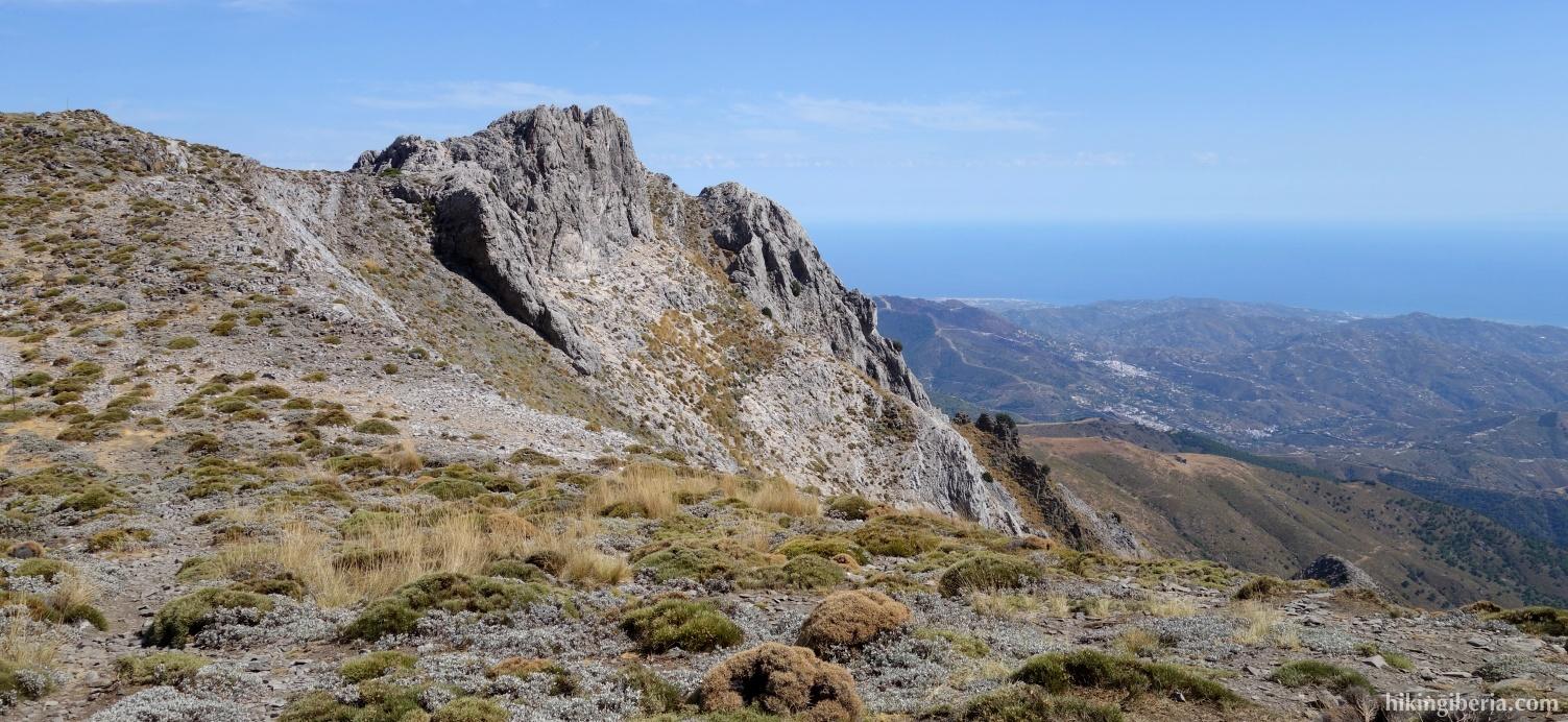 Uitzicht vanaf de Collado de Lobera
