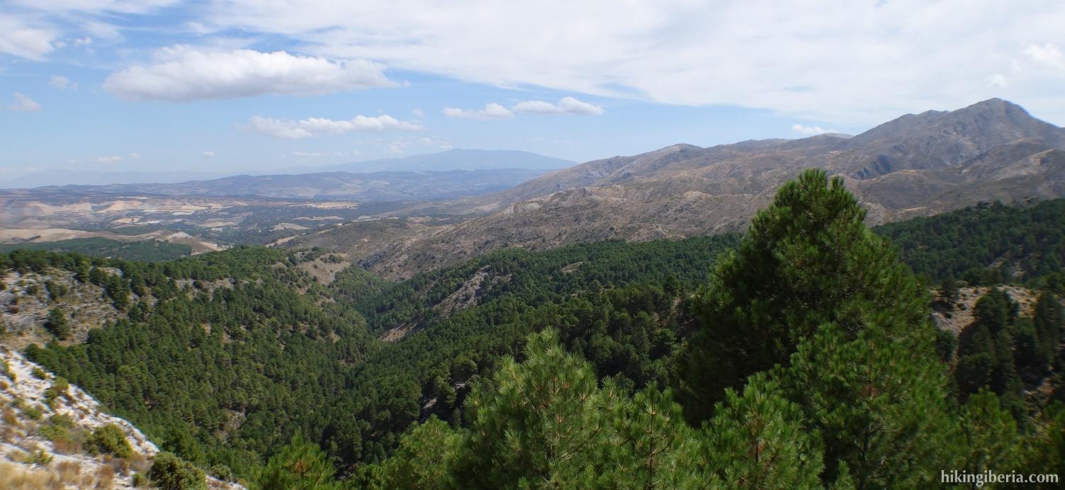 Uitzicht op de Sierra Nevada