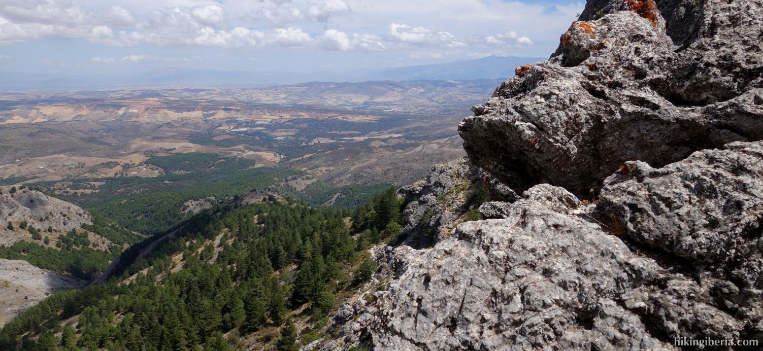View on the Sierra de Tejeda