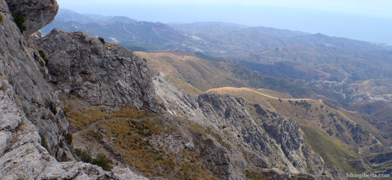 Uitzicht op de Sierra de Tejeda