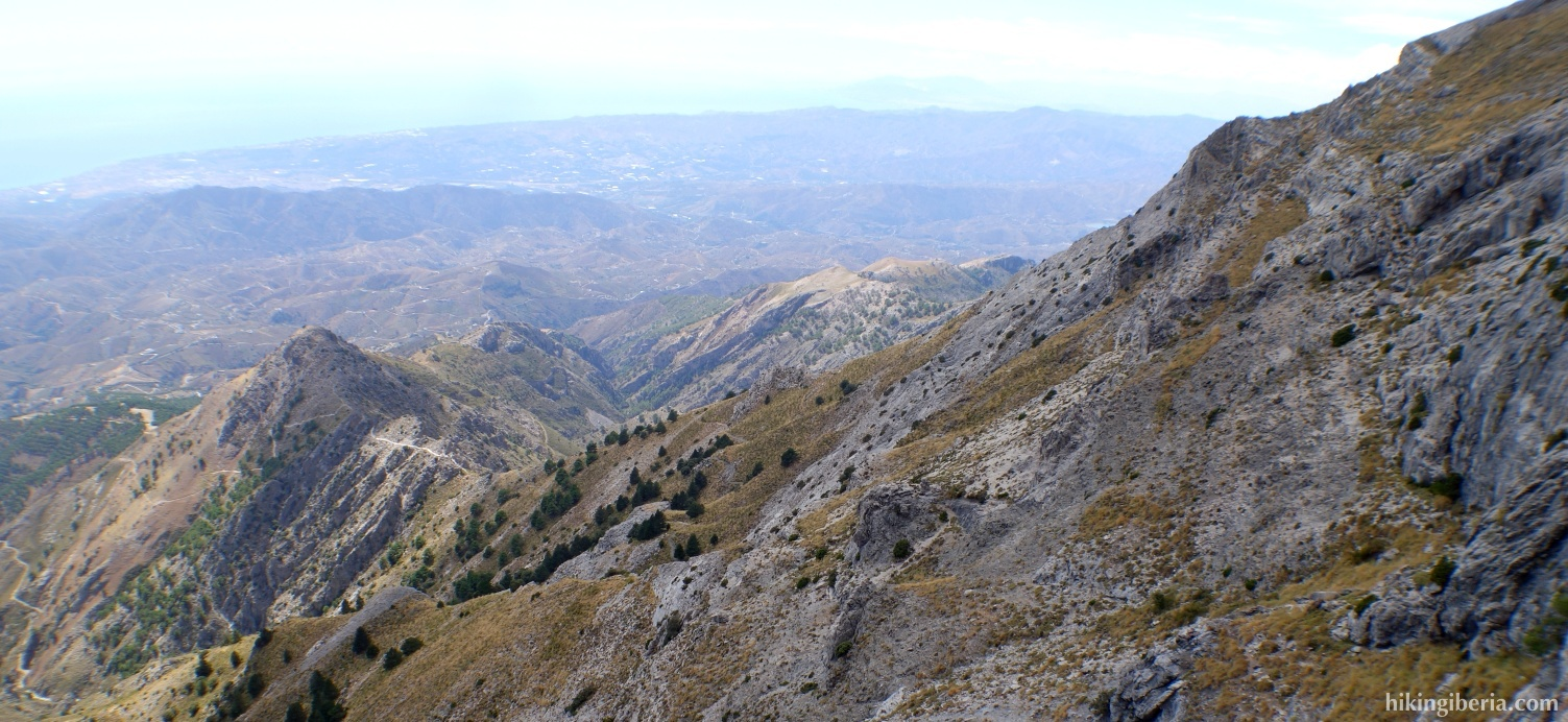 View on the Sierra de Tejeda