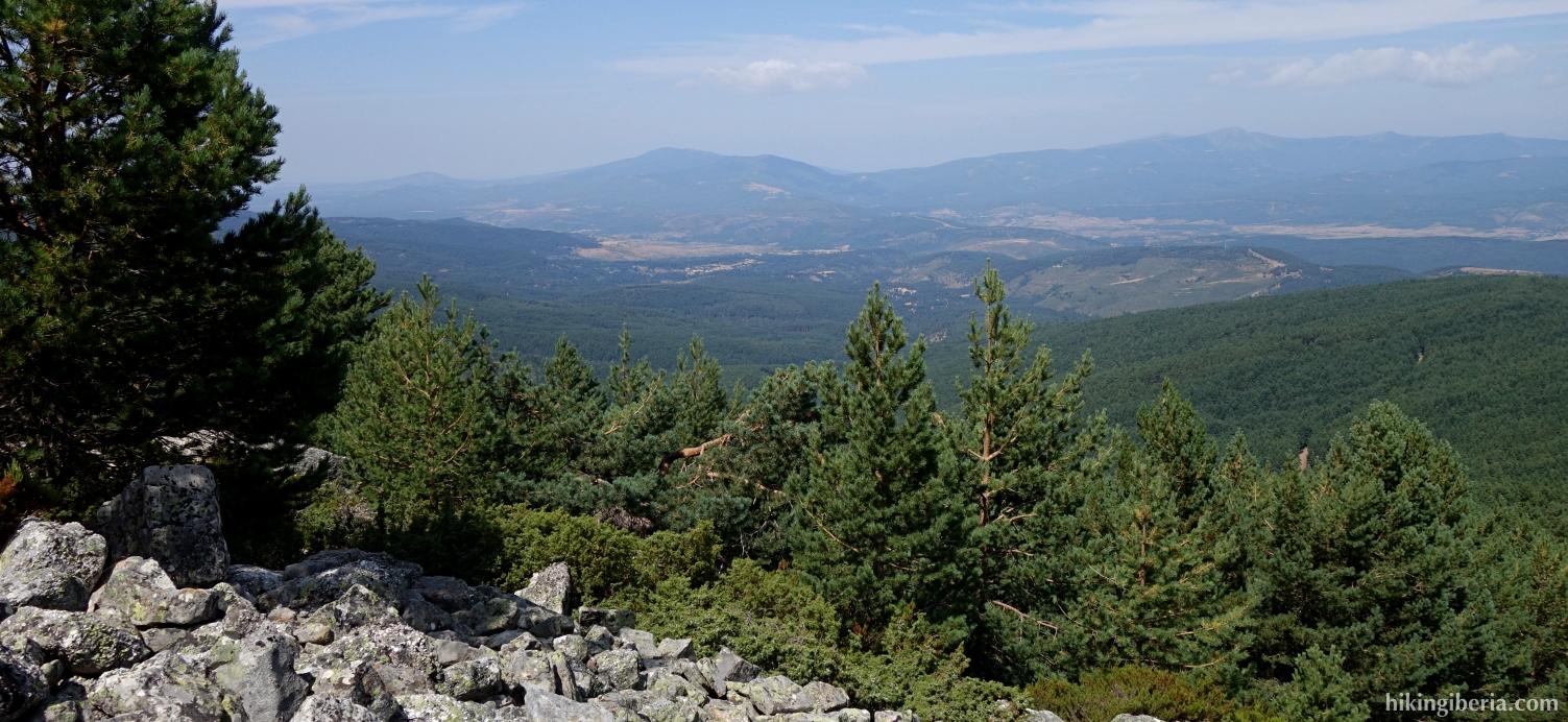 Aussicht auf dem Aufstieg zum Cerro Zolorro