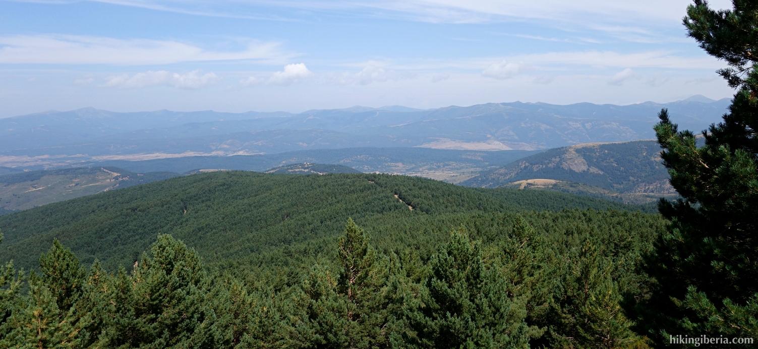 Uitzicht op de klim naar de Cerro Zolorro